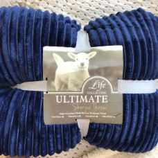 SUPER LUXURIOUS PLUSH DARK BLUE