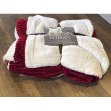 SUPER LUXURIOUS PLUSH HOT RED